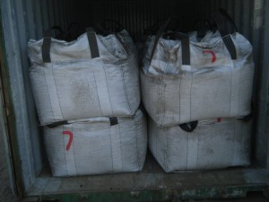 jumbo bags containing cobalt concentrates 300x225 - Cargo types and packing method in containers